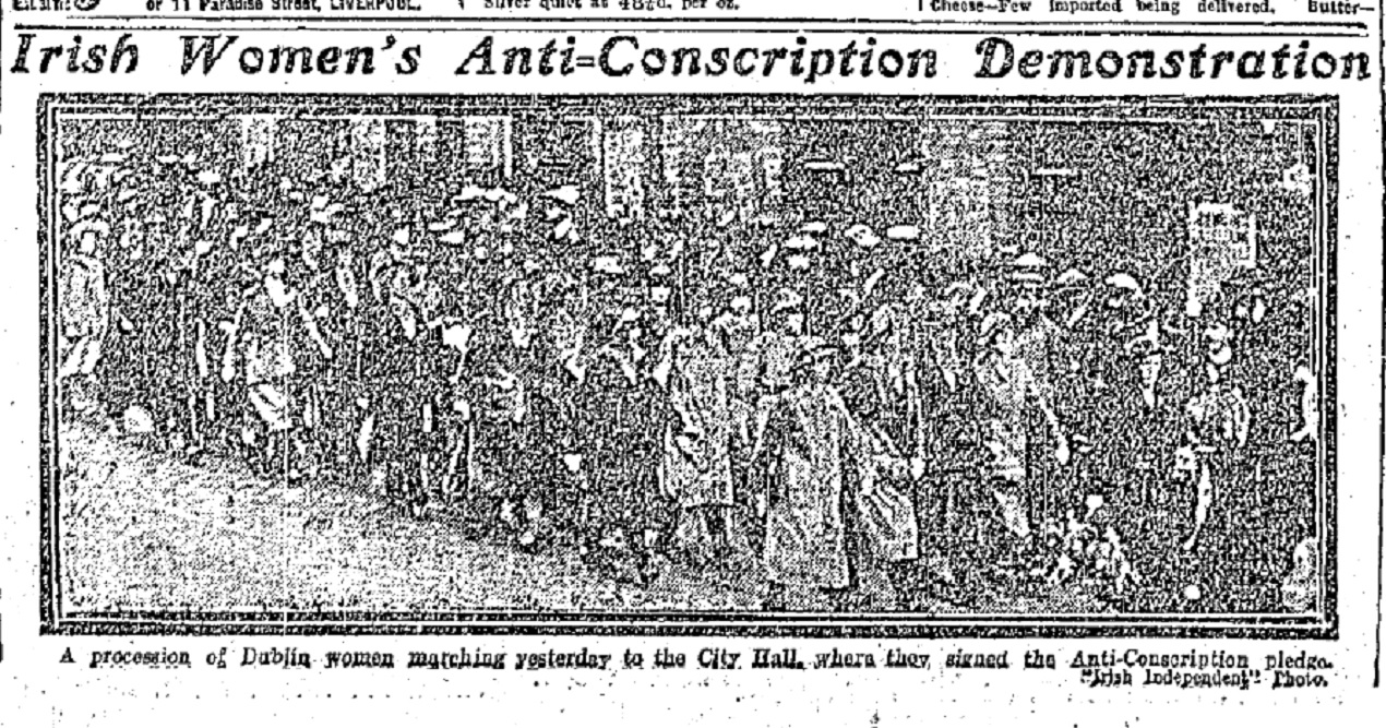La na mBan Photo Irish Independent 10 June 1918