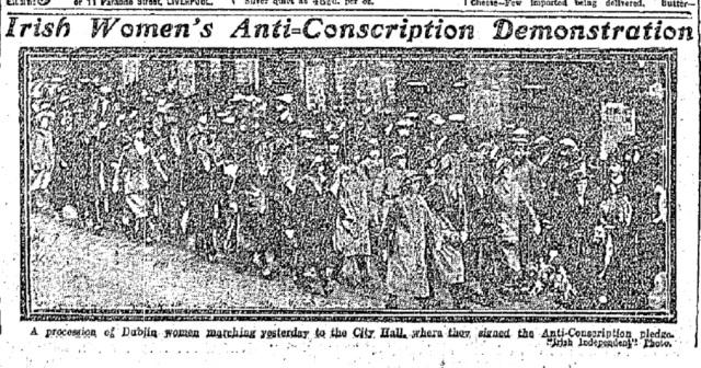La na mBan Photo Irish Independent 10 June 1918